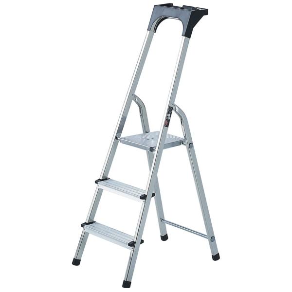 brennenstuhl haushaltsleiter aluminium mit arbeitsschale 3 stufen h he 140cm. Black Bedroom Furniture Sets. Home Design Ideas