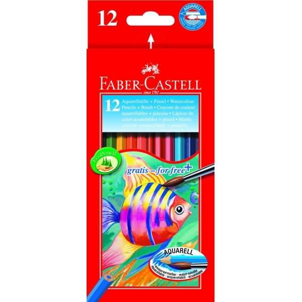 faber castell kinderaquarellfarbstifte 12 aquarellfarben