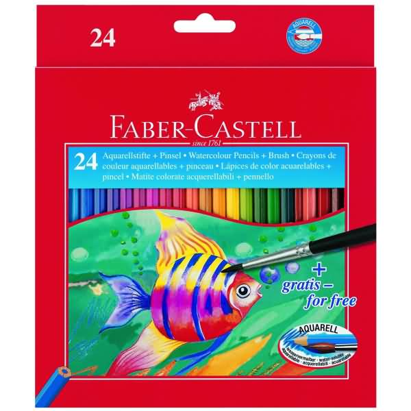 faber castell kinderaquarellfarbstifte 24 aquarellfarben