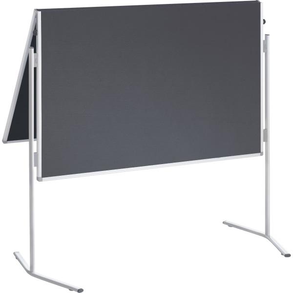 Franken moderationstafel 120x150 cm grau filz beidseitig for Tafelfarbe grau