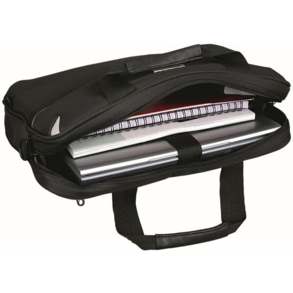 lightpak laptoptasche sierra 17 zoll 41x30x8 5cm polyester. Black Bedroom Furniture Sets. Home Design Ideas