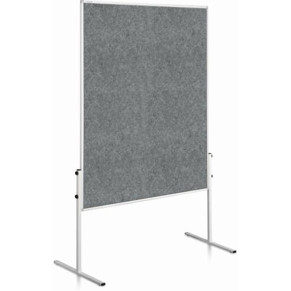 Legamaster moderationswand economy starr 120x150cm grau for Tafelfarbe grau
