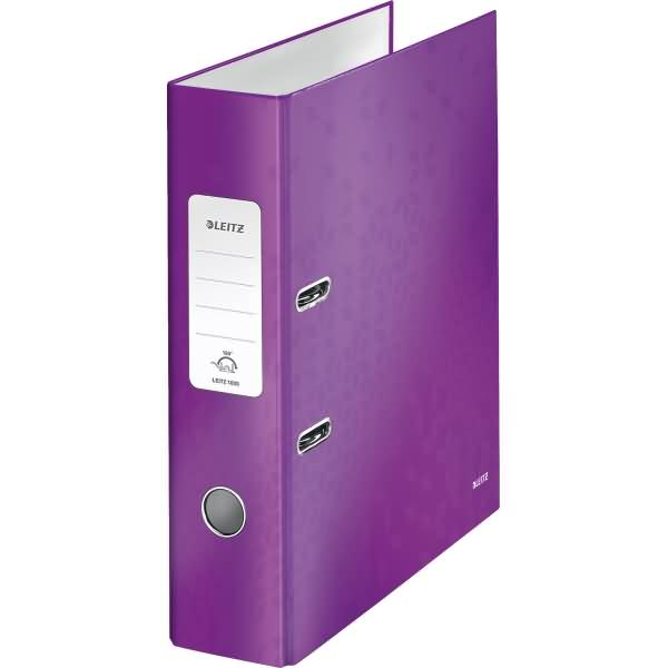 leitz ordner wow a4 kunststoff 80mm violett. Black Bedroom Furniture Sets. Home Design Ideas