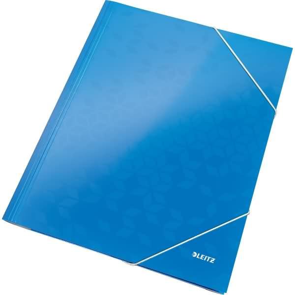 leitz eckspanner wow a4 pp kaschierter karton 300g qm blau metallic. Black Bedroom Furniture Sets. Home Design Ideas