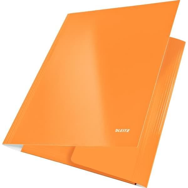 leitz eckspanner wow a4 pp kaschierter karton 300g qm orange metallic. Black Bedroom Furniture Sets. Home Design Ideas