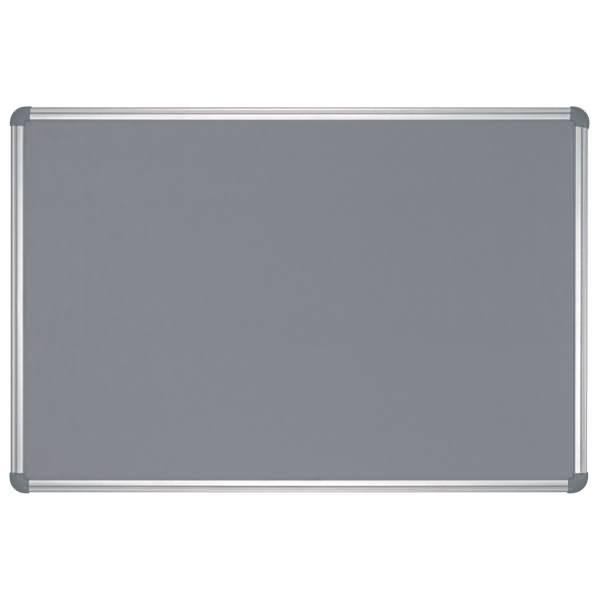 Maul pinnboard office textil 90x120cm grau for Tafelfarbe grau