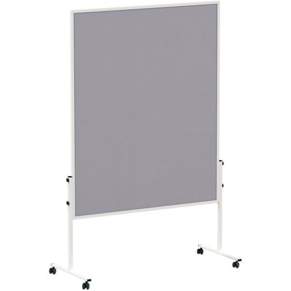 Maul moderationstafel solid 150x120 cm filz ungeteilt grau for Tafelfarbe grau