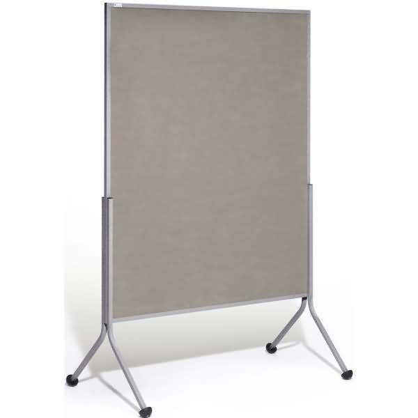 Rocada stellwandtafel beidseitig textil 116x195x68cm grau for Tafelfarbe grau