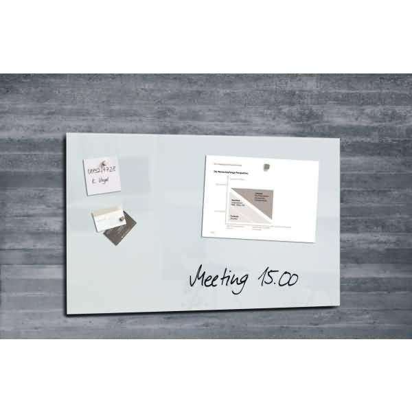 sigel glas magnetboard artverum 78x48cm wei. Black Bedroom Furniture Sets. Home Design Ideas