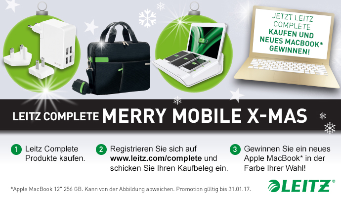 Leitz-Aktion: Merry Mobile X-Mas